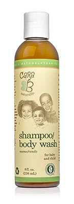 CARA B Naturally Baby Shampoo and Body Wash for Textured, Curly Hair