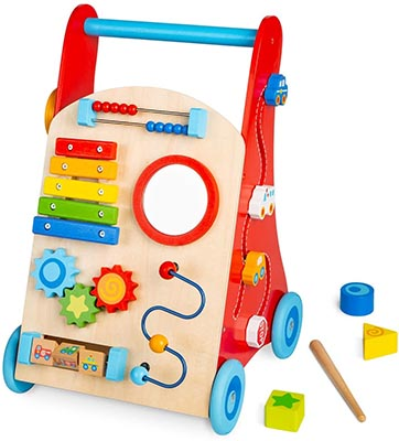 cossy Wooden Baby Walker Toddler Toys for 18 Months and up